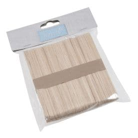 Lollypop Sticks: Wooden: 113 x 10mm: Pack of 100: Natural