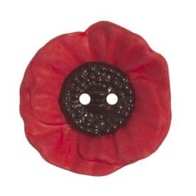 Poppy Button: 2 Hole: 28mm