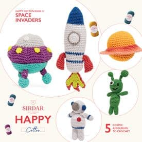 Sirdar Happy Cotton Space Invaders Book 12