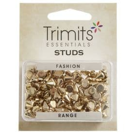 Studs - Sew on - Cone - 6mm 120 Pack