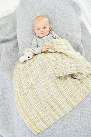 Stylecraft Blanket, Hats, Mitts and Booties Pattern Knitted With Bambino Prints DK 9748