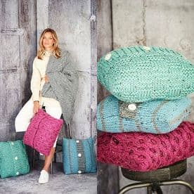 Stylecraft Blankets & Cushions Pattern Knitted in Special XL Tweed 9811