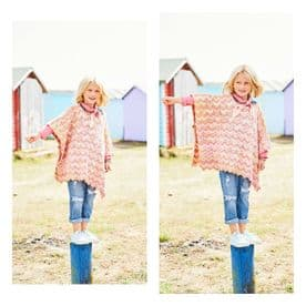 Stylecraft Boat Neck Poncho & Hooded Poncho Pattern Knitted in Regatta DK 9742