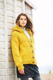Stylecraft Ladies Jacket Pattern Knitted in Super Chunky 9885