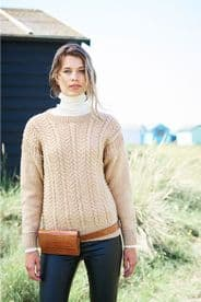 Stylecraft Ladies Sweaters Pattern Knitted in Special Aran with Wool 9892
