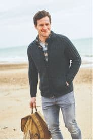 Stylecraft Men's Cardigan with and without Pockets Pattern Knitted in Highland Heathers DK 9866