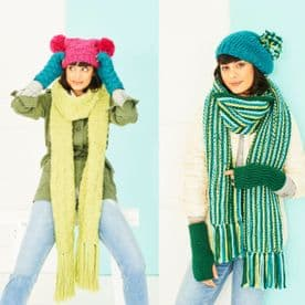 Stylecraft Scarves, Wrist warmers, Beret & Hat Pattern Knitted in Special XL Super Chunky 9786