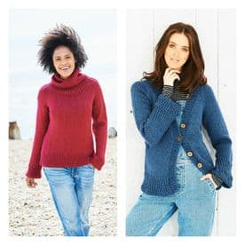 Stylecraft Sweater & Cardigan Pattern Knitted With Bellissima Chunky 9691
