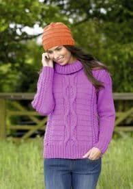 Stylecraft Sweater & Hat Knitted in Special Aran 9072