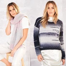 Stylecraft Sweater & Scarf Pattern Knitted in Cosy Chunky 9563