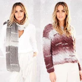 Stylecraft Sweater & Scarf Pattern Knitted in Cosy Chunky 9565