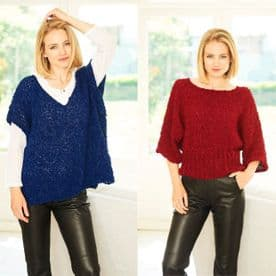 Stylecraft Sweater & Top Pattern Knitted in Pearls 9780