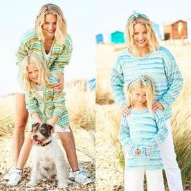 Stylecraft You & Me Ladies & Child's Sweater and Cardigan Pattern 9822