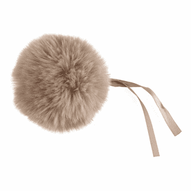 Trimits Faux Fur Pom Pom - 11cm Natural