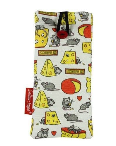 Selina-Jayne Mouse and Cheese Limited Edition Designer Soft Glasses Case