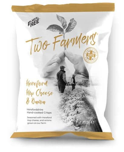 Hereford Hop Cheese & Onion Crisps 150g