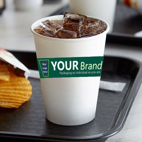 Bespoke Custom Printed Compostable Paper Cold Cups