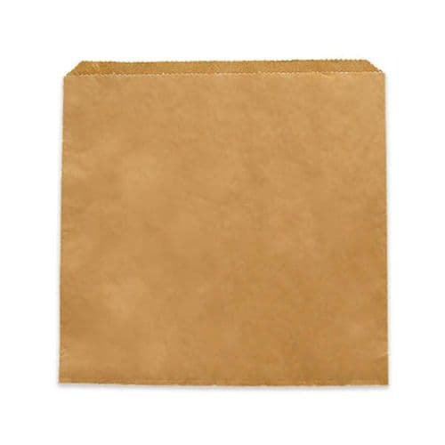 "No10 Large Kraft Flat Paper Food Bags (10"")"