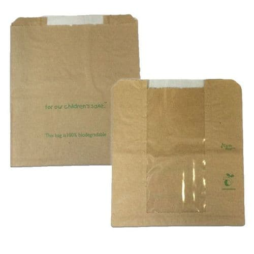 """No10 Large Window Food / Bakery Bags (10"""")"""