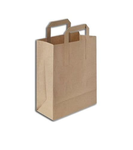 """No10 Standard Compostable Handled Carrier Bags (10x9"""")"""