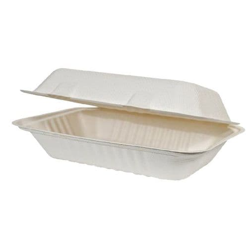 """No12 Long Bagasse Fish & Chip Box / Container (12x6"""")"""
