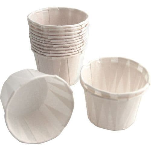 No28 Small Paper Portion / Sauce Pots (1oz)