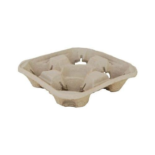 No4 Large Recycled Board Cup Carriers (4 Cup)