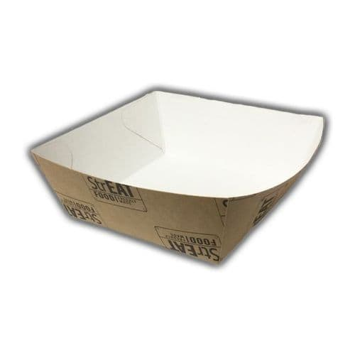 """No7 Compostable StrEAT Food Disposable Burger Trays (7"""")"""