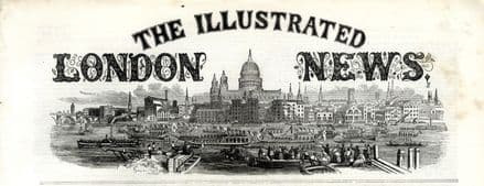 1858 ILLUSTRATED LONDON NEWS Red River Canada GRANTHAM Henry Youle Hind VICTORIAN NEWSPAPER (9390)