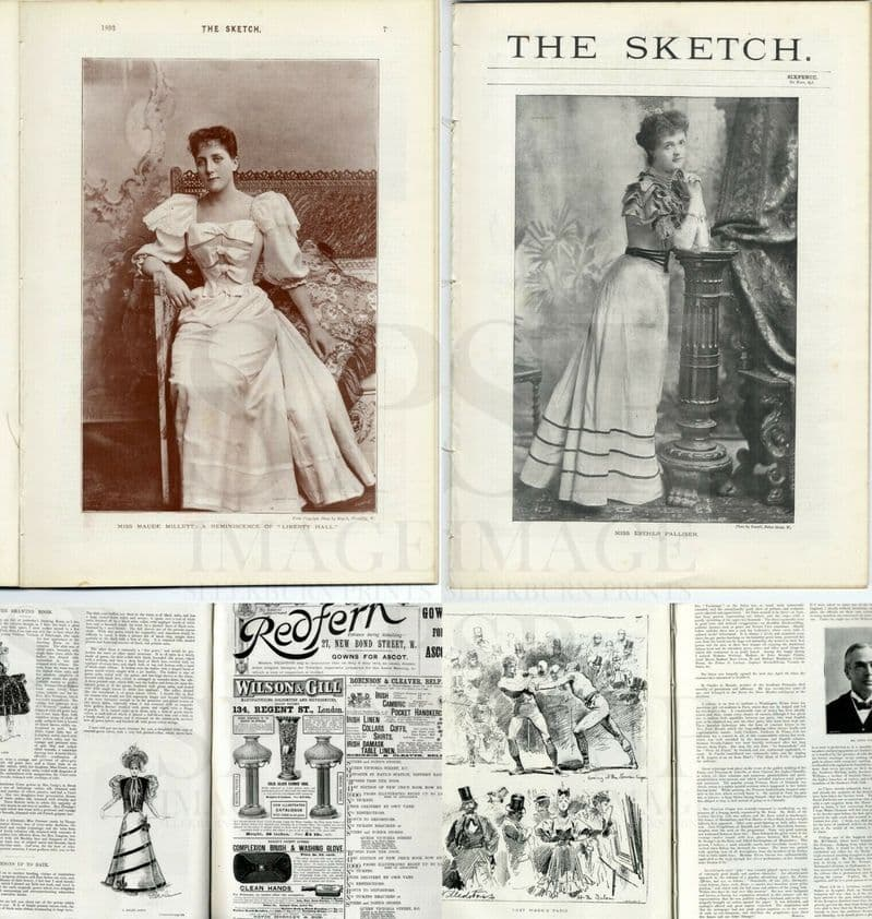 1893 THE SKETCH Magazine ESTHER PALLISER Thomas Collcutt MAUDE MILLETT (5100)
