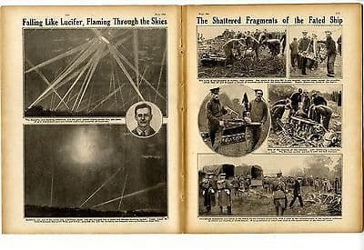 1916 WW1 Magazine SOMME Trenches Fricourt ZEPPELIN CUPLEY ENFIELD War (9010)