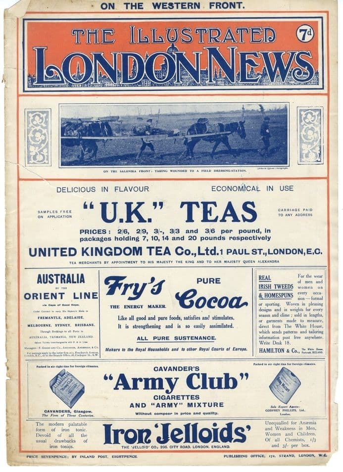 1917 ILLUSTRATED LONDON NEWS WW1 Newspaper DIVERS REPAIR Ancre Somme SAVOY HOTEL German East Africa WAR (3604) SOLD