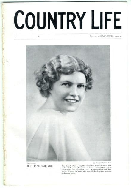 1936 COUNTRY LIFE Magazine FRED PERRY Jane McBryde BURTON PARK DUNCTON (0602)
