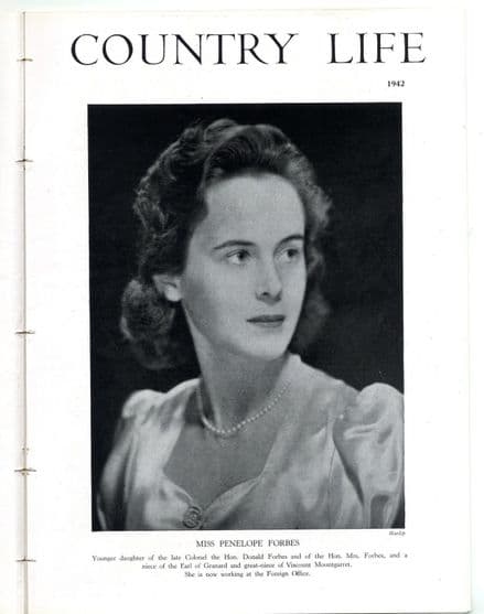 1942 COUNTRY LIFE Magazine PENELOPE FORBES SITWELL Sissinghurst Castle (1832)
