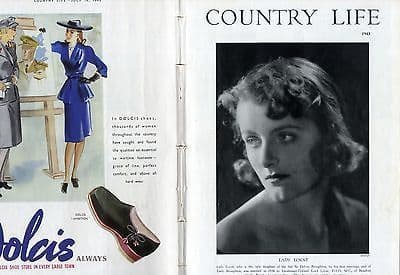 1943 COUNTRY LIFE Magazine ROSAMUND LADY LOVAT Hamstead Village LONDON COUNTY PLAN (6242)