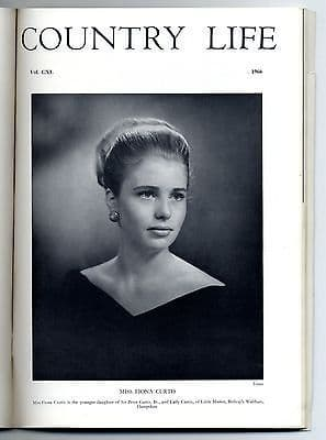 1966 COUNTRY LIFE Magazine FIONA CURTIS Appleby BATTLE ABBEY (1363)