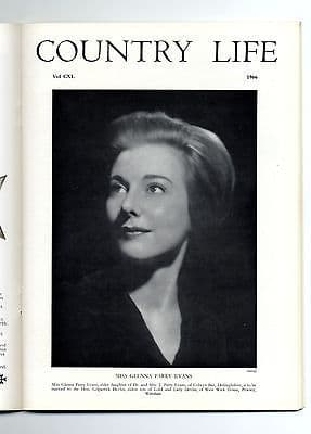 1966 COUNTRY LIFE Magazine Glenna Parry Evans FONTHILL WILTS (8363)