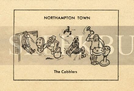 VINTAGE Football Print NORTHAMPTON TOWN - THE COBBLERS Funny Cartoon