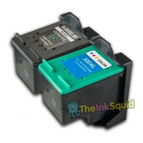 1 Set (2 inks) of Compatible HP300 XL ink cartridges