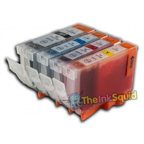 1 Set (4 Inks) of Compatible Canon PGI-5 / CLI-8 Ink Cartridges