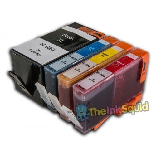 1 Set (4 inks) of HP 920 XL Chipped Compatible Ink Cartridges for Photosmart Printers