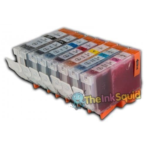 1 Set (7 Inks) of Compatible Canon PGI-5 / CLI-8 Ink Cartridges
