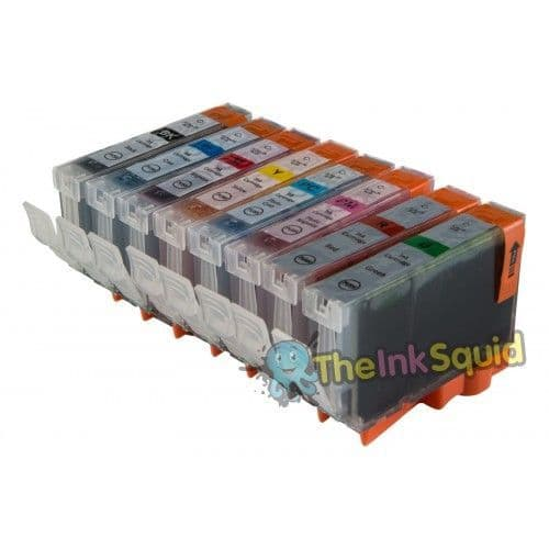1 Set (8 Inks) of Compatible Canon CLI-8 Ink Cartridges