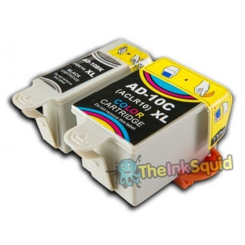1 Set of Advent 10 XL (ABK10 + ACL10) Compatible Ink Cartridges