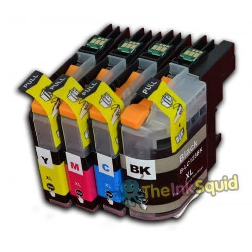 1 Set of Brother B-LC123 Compatible Ink Cartridges for MFC/DCP Printers