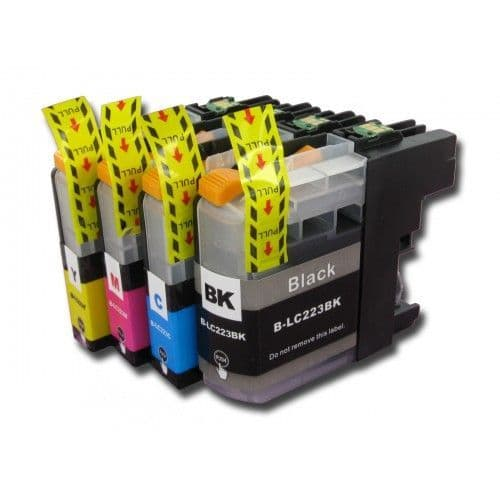 1 Set of Brother LC223 Black Cyan Magenta Yellow Compatible Ink Cartridges