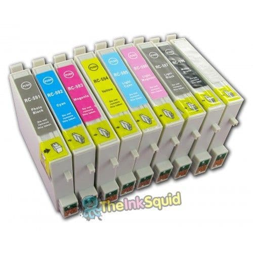 1 Set of Compatible T0591-9 Epson (Lily) Non-oem Ink Cartridges