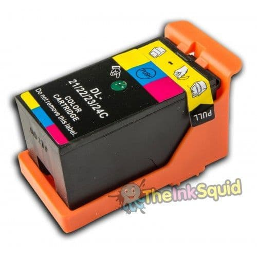 1 Chipped High-Capacity Compatible Dell 21/22/23/24 Colour Ink Cartridge