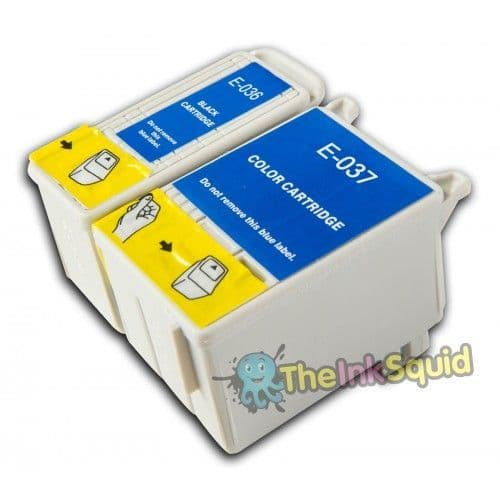 1 Set of Epson Stylus Compatible T036 and T037 Beach Hut Cartridges
