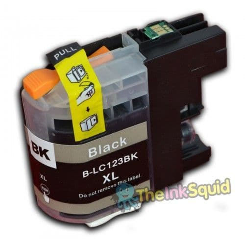 1 x Black Compatible Brother B-LC123 Bk Compatible Ink Cartridge